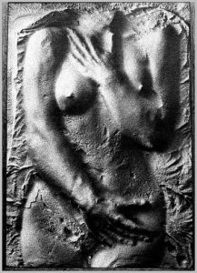 Volker Bussmann Künstler Akt Kunst Nude Spritzfrottage Gaby