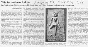 Volker Bussmann Künstler Galerie Presse Hobby Kulturspiegel Wie Tot Unterm Laken