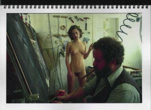 Volker Bussmann Künstler Akt Making Of Spritzfrottage Technik Nude Studio 1