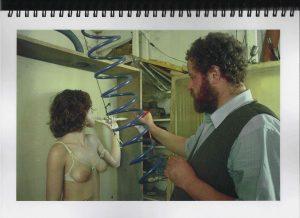 Volker Bussmann Künstler Akt Making Of Spritzfrottage Technik Nude Studio 10