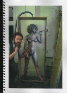 Volker Bussmann Künstler Akt Making Of Spritzfrottage Technik Nude Studio 12