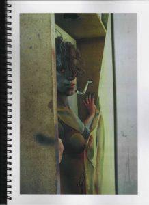 Volker Bussmann Künstler Akt Making Of Spritzfrottage Technik Nude Studio 14
