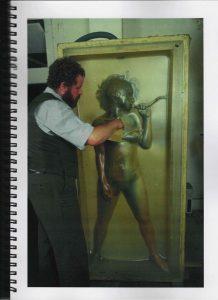 Volker Bussmann Künstler Akt Making Of Spritzfrottage Technik Nude Studio 16