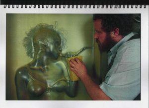 Volker Bussmann Künstler Akt Making Of Spritzfrottage Technik Nude Studio 17