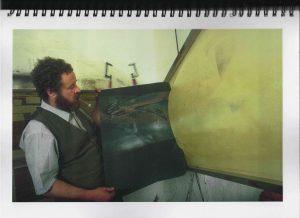 Volker Bussmann Künstler Akt Making Of Spritzfrottage Technik Pupe Vera 21