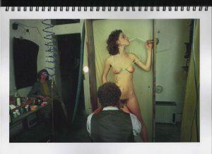 Volker Bussmann Künstler Akt Making Of Spritzfrottage Technik Nude Studio 5