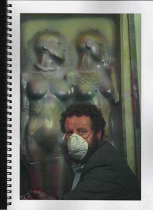 Volker Bussmann Künstler Akt Making Of Spritzfrottage Technik Pupe Vera 12