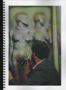 Volker Bussmann Künstler Akt Making Of Spritzfrottage Technik Pupe Vera 13