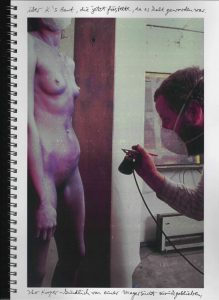 Volker Bussmann Künstler Akt Making Of Spritzfrottage Technik Nude Wohin Geht Die Zeit 11