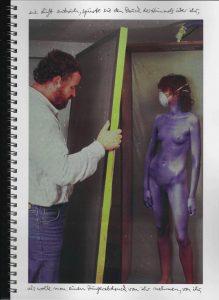 Volker Bussmann Künstler Akt Making Of Spritzfrottage Technik Nude Wohin Geht Die Zeit 13
