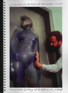 Volker Bussmann Künstler Akt Making Of Making Of Spritzfrottage Technik Nude Wohin Geht Die Zeit 16