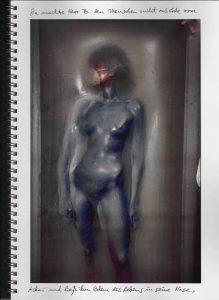 Volker Bussmann Künstler Akt Making Of Making OfSpritzfrottage Technik Nude Wohin Geht Die Zeit 18