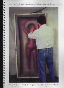 Volker Bussmann Künstler Akt Making Of Spritzfrottage Technik Nude Wohin Geht Die Zeit 7