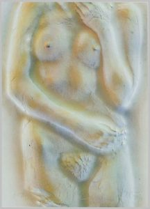 Volker Bussmann Künstler Kunst Nude Akt Relief Gips Kirstin