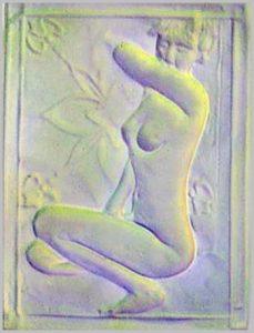 Volker Bussmann Künstler Kunst Nude Akt Relief Akt Kirstin