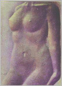 Volker Bussmann Künstler Akt Kunst Nude Spritzfrottage Akt Modell K