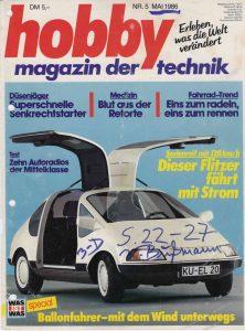 Volker Bussmann Künstler Galerie Presse Hobby Magazin der Technik Frau in Folie Cover
