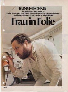 Volker Bussmann Künstler Galerie Presse Artikel Hobby Magazin der Technik Seite 1