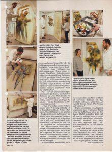 Volker Bussmann Künstler Galerie Presse Artikel Hobby Magazin der Technik Frau in Folie Seite 7
