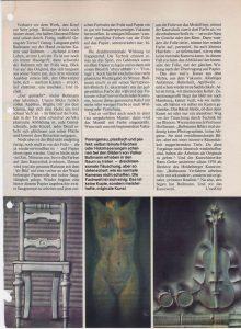 Volker Bussmann Künstler Galerie Presse Artikel Hobby Magazin der Technik Frau in Folie Seite 9