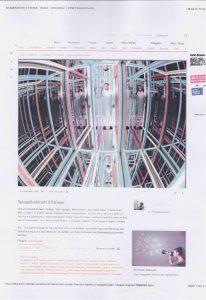 Volker Bussmann Künstler Lichtinstallation View Stern Kunst Presse Artikel Magazin Unendlichkeitssimulator