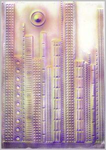 Volker Bussmann Künstler Architektur Spritzfrottage Skyline